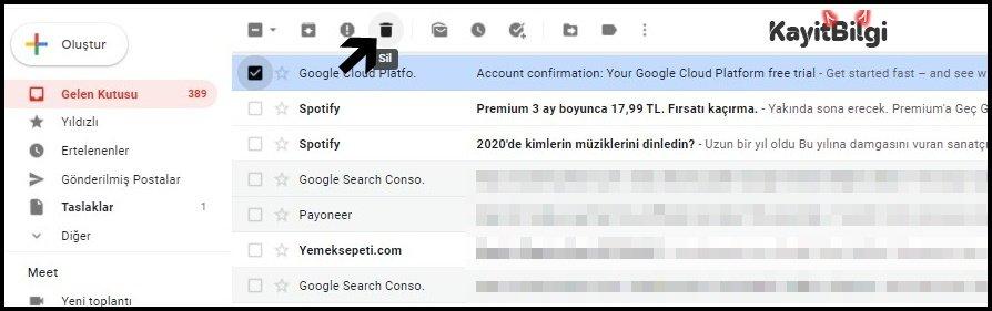 Gmail E-Posta Nasıl Silinir